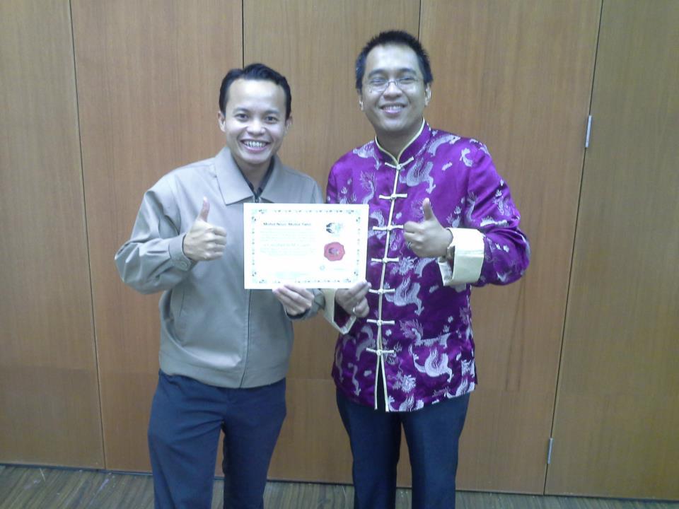 Anugerah 'SOIF Coach Certification' oleh Mr Rizal; International NLP Master Learning Facilitator (Take Charge Sdn Bhd)