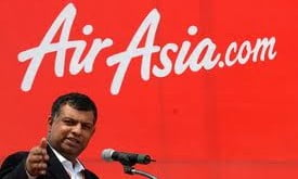 AirAsia.com. AirAsia, Tune Group of Companies, Tony Fernandes