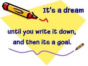 menulis matlamat, goal setting, visi misi, vision