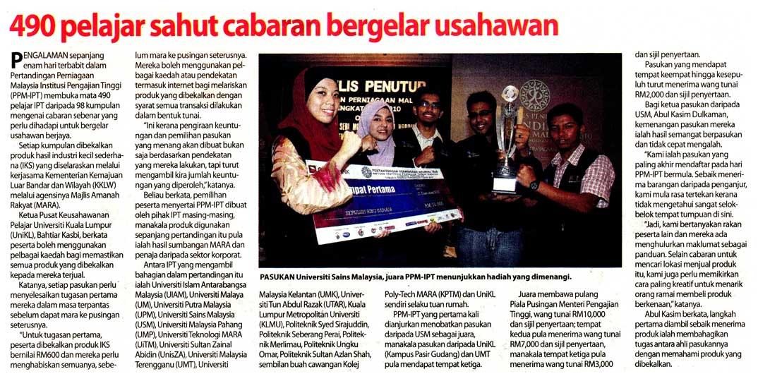 usahawan berjaya, usahawan IPT, usahawan muda
