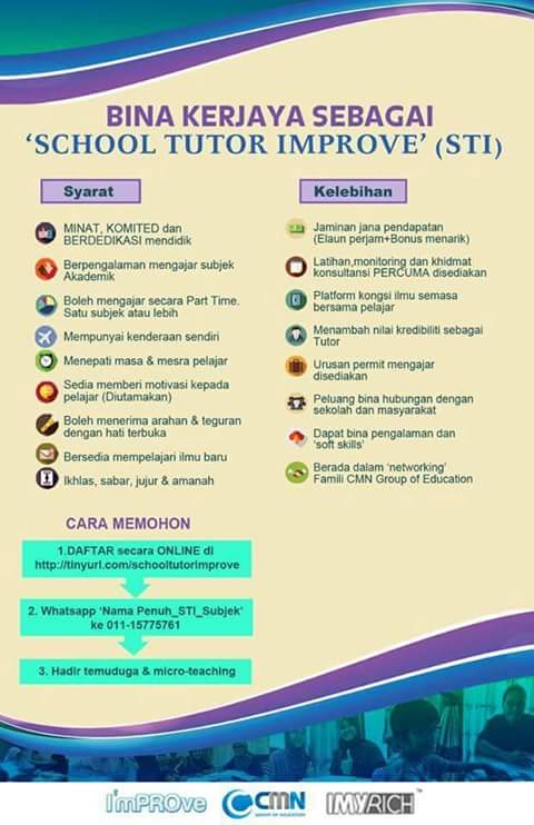 bina kerjaya school tutor improve
