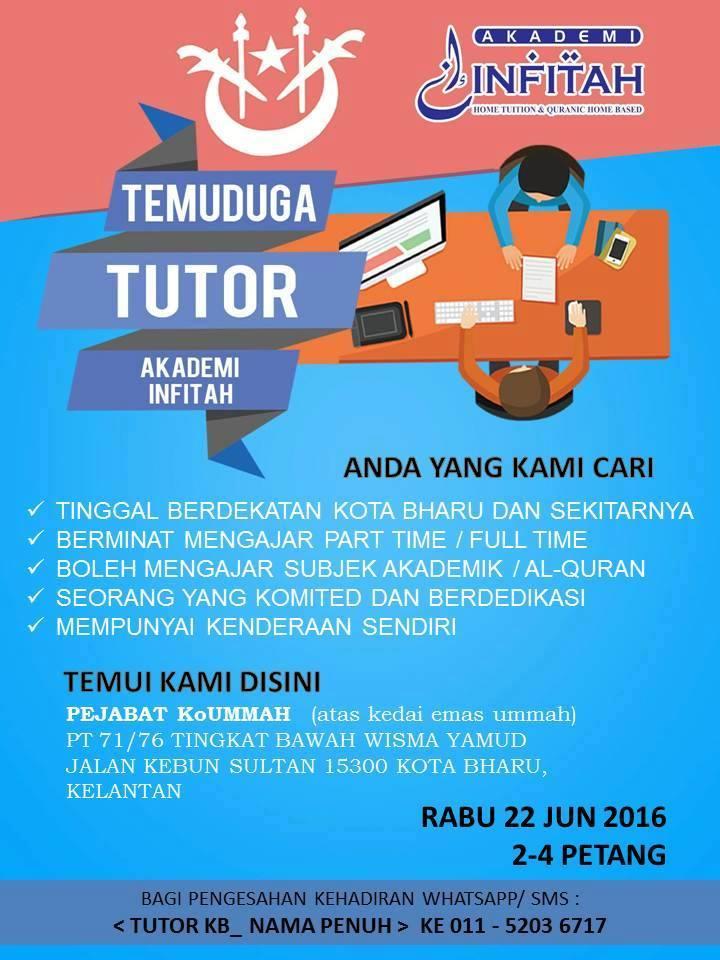 interview akademi infitah home tutor kota bharu