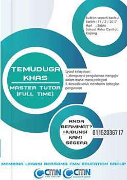 jawatan kosong guru tutor